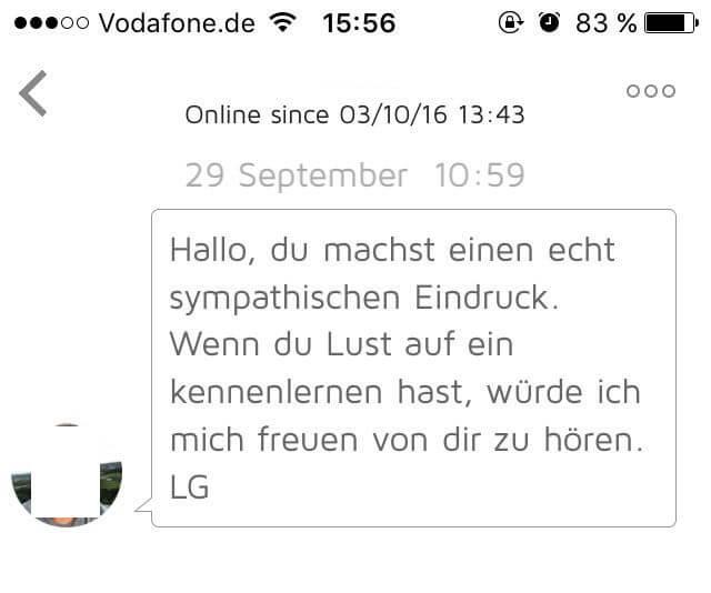 Beispiel Fur Nachricht Beim Online Dating 9